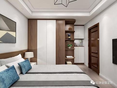 床头两边做衣柜效果图