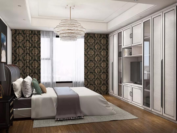 一般的卧室打开方式是:一张床、一个梳妆台,一件衣柜。它们各自摆放在卧室的不同角落,相互之间毫无交集。但在拉迷定制衣柜这里,他们,可以融合在一起! 衣柜+梳妆台  根据卧室的不同格局,可以在衣柜左侧靠门处,空出一点的空间,打造一个简单而实用的梳妆台。有隔板、抽屉、地柜不同收纳方式,满足做一个精致女孩的愿望!