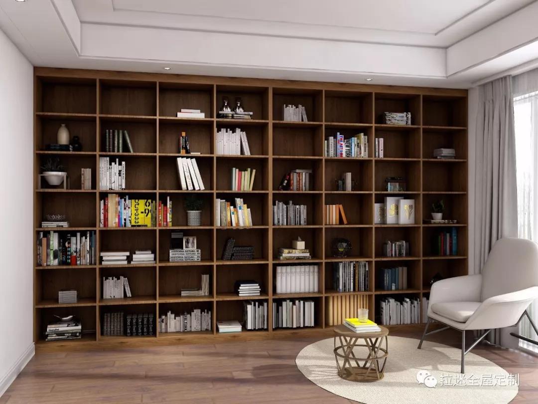 """""""一""""字型大书柜是传统书柜款式,是一种以收纳为主的独立式书柜.图片"""